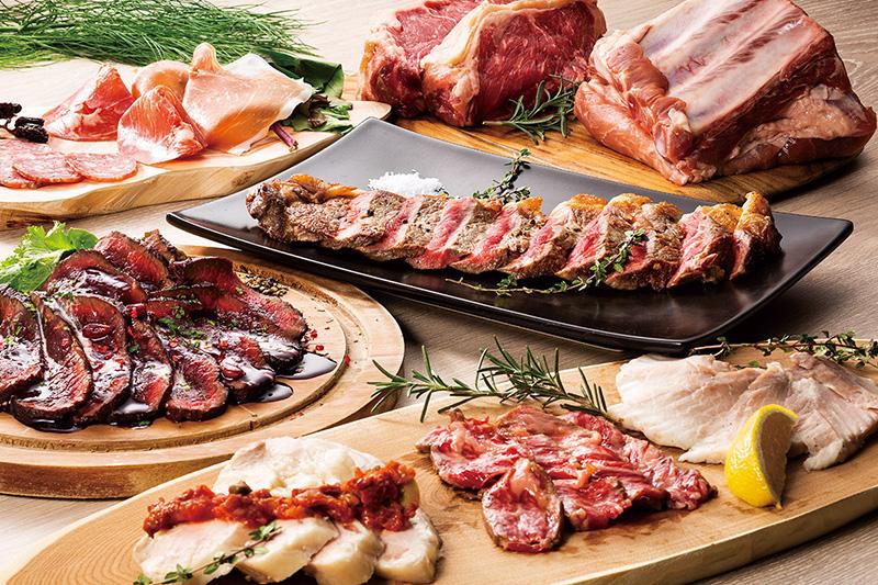 【宴会】牛サーロインの海塩焼きと低温調理肉刺し盛り