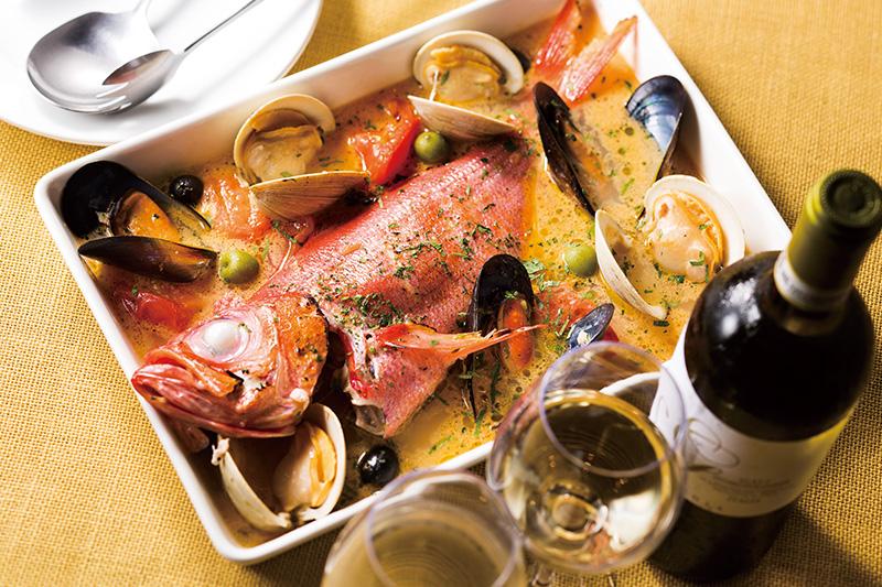 【歓送迎会プラン】漁港直送鮮魚のアクアパッツァと魚介マリネ堪能コース <飲み放題付>
