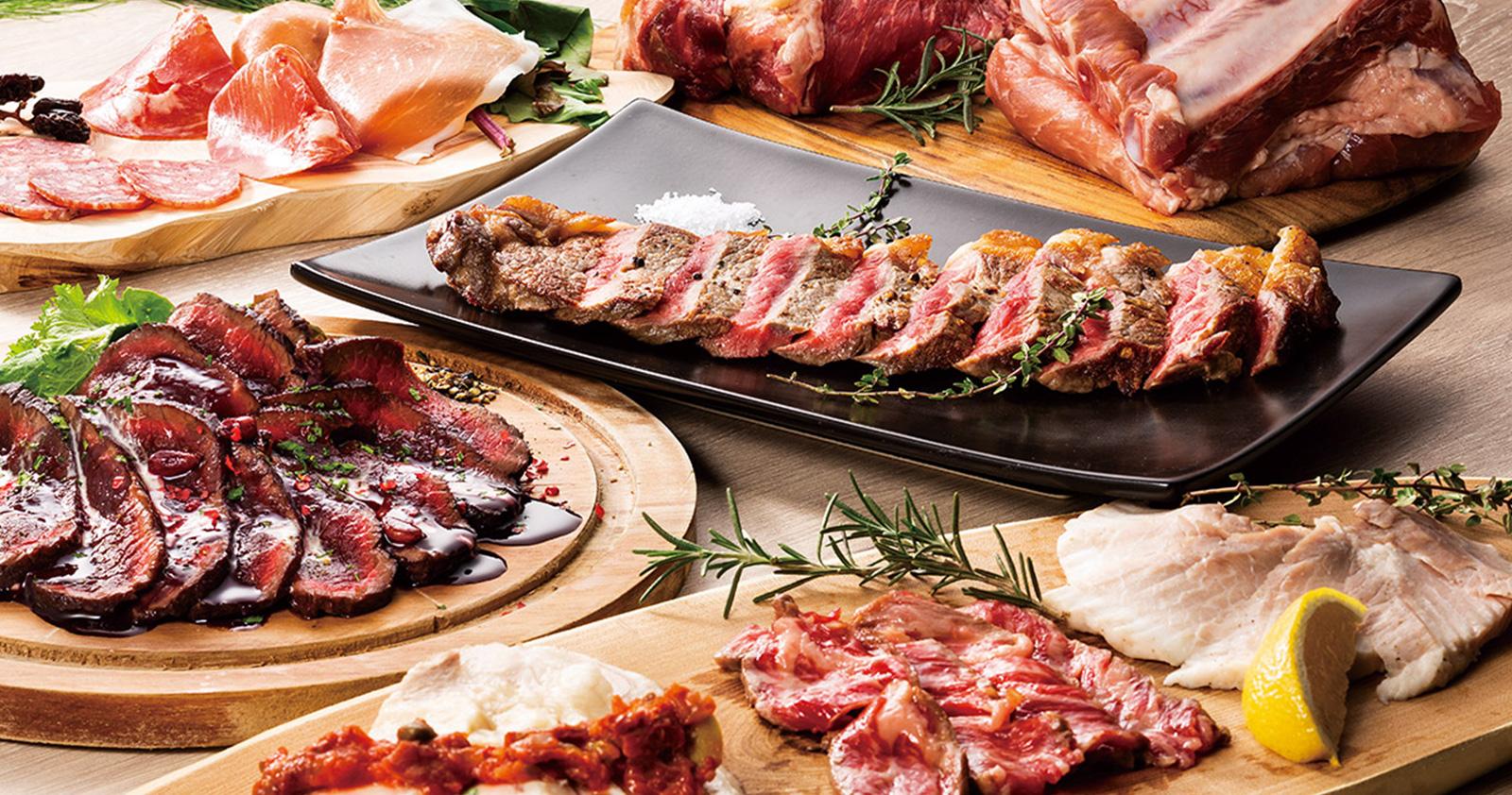 【歓送迎会プラン】国産赤城牛と名物肉刺し盛り合わせ堪能コース<飲み放題付>